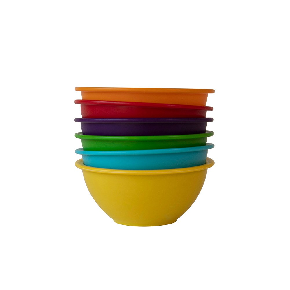 Scullery Fresh Prep Set of 6 Mini Prep Mixing Bowls Multicolour