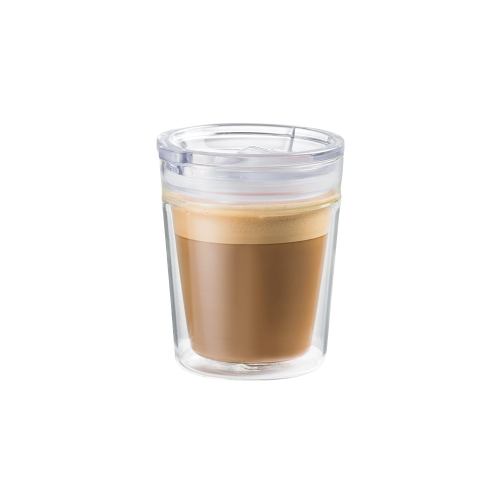 Baccarat Barista Double Walled Glass Travel Coffee Cup 250ml