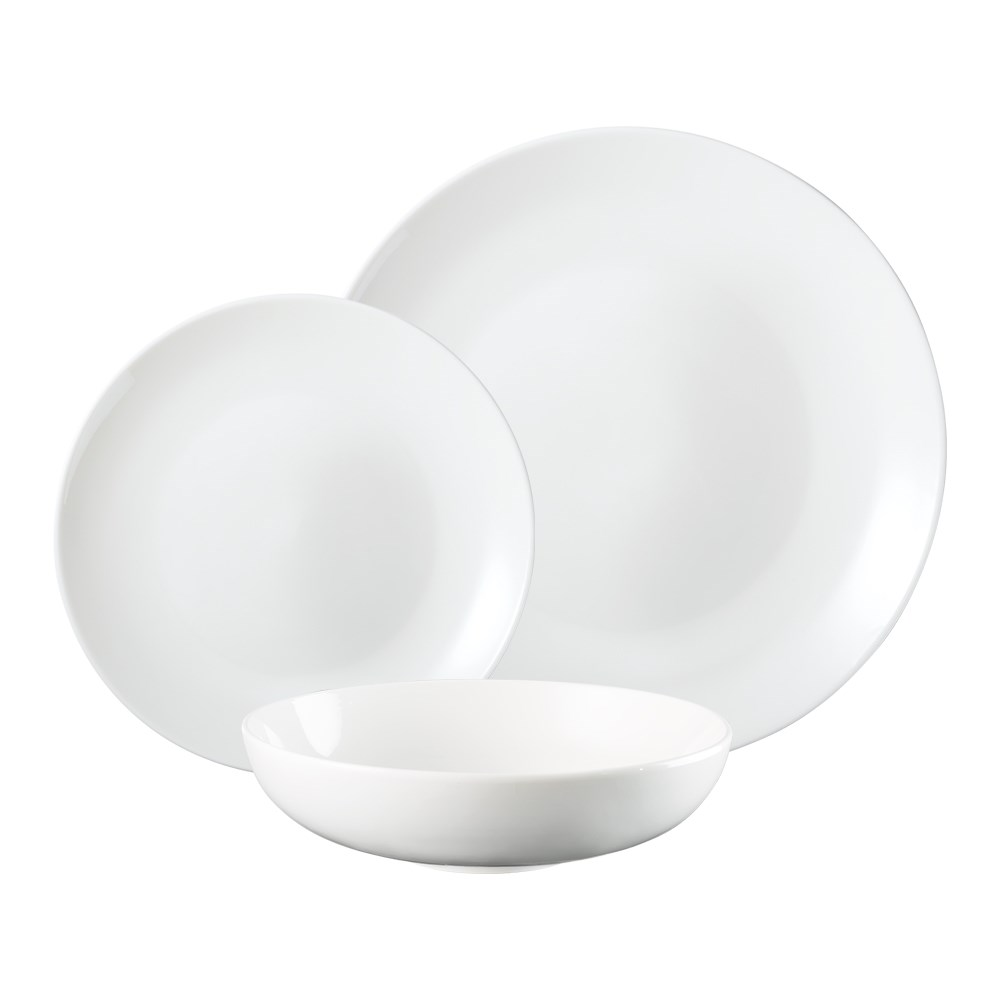 Alex Liddy Superior Collection Coupe Dinner Set 12 Piece White