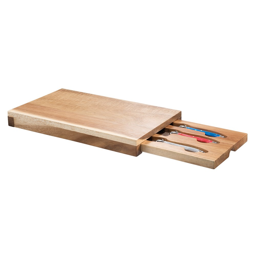 Marie Claire Domain Drawer 4 Piece Cheese Board & Knife Set