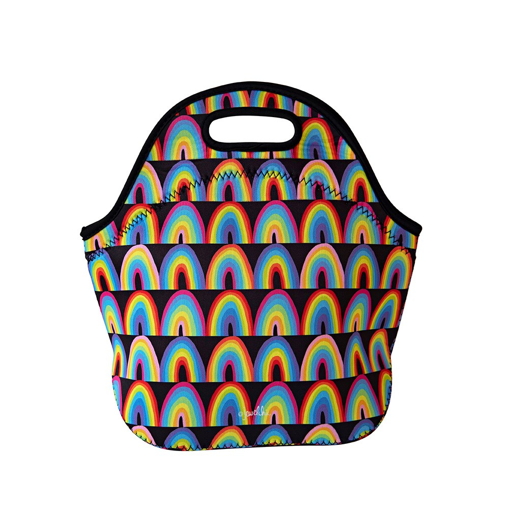 Jewelchic II Neoprene Lunch Tote Rainbow