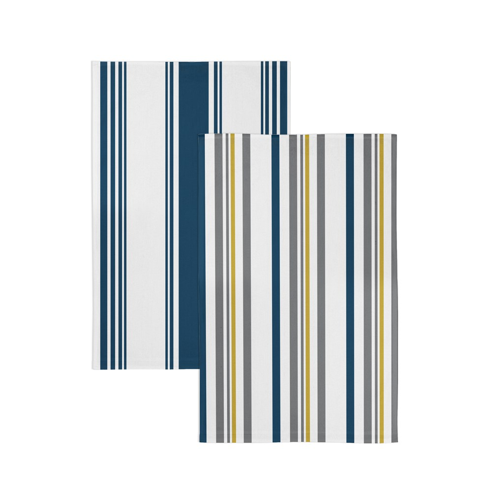 Marie Claire Art Deco Tea Towel Set Stripe