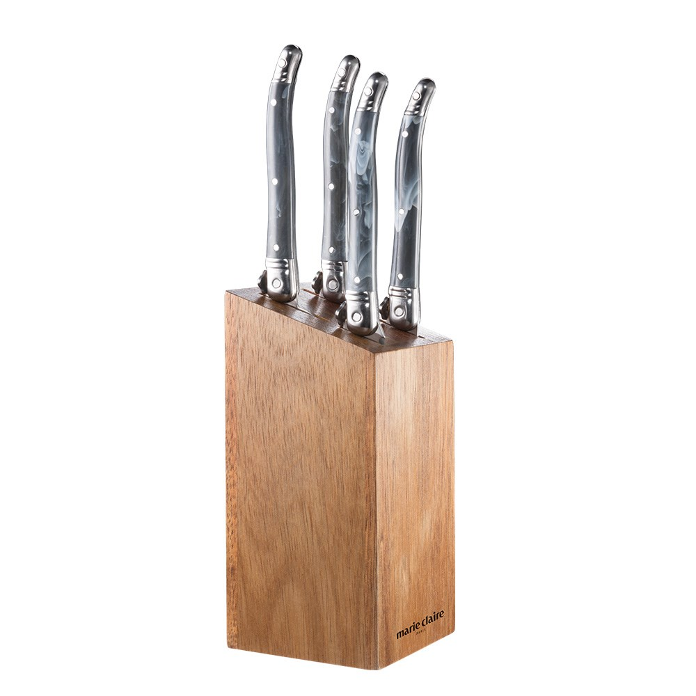 Marie Claire Domain Set of 5 Pate & Cheese Knife Set Grey Marble
