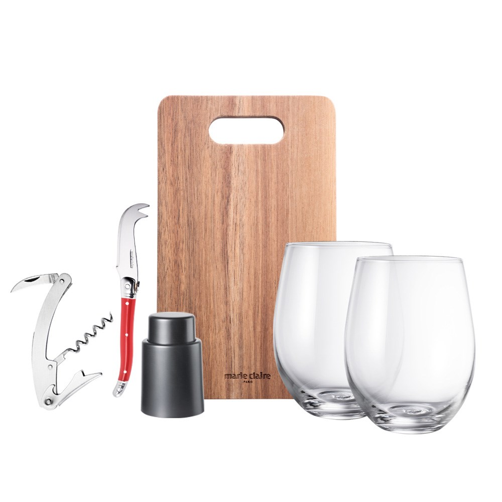 Marie Claire Domain 6 Piece Cheese & Wine Gift Set