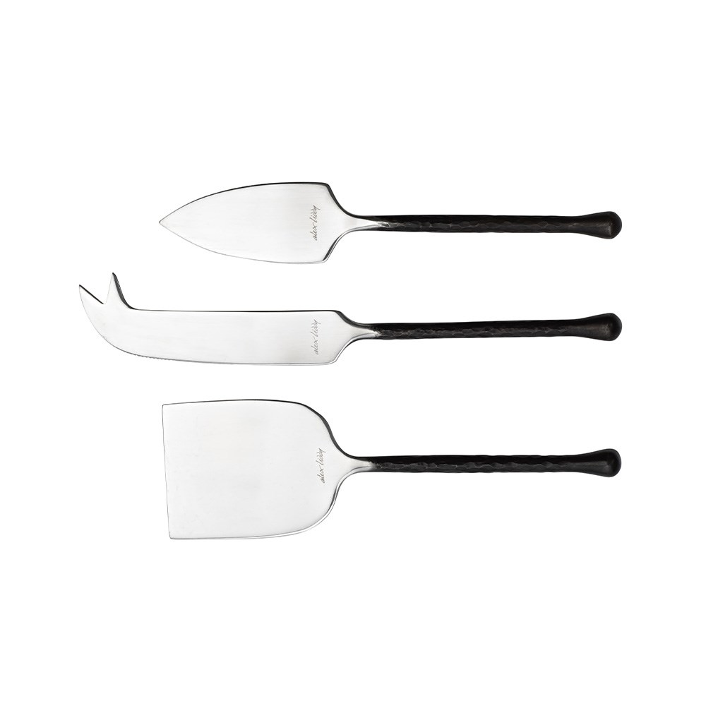 Alex Liddy Slate & Co 3 Piece Cheese Knife Set Black