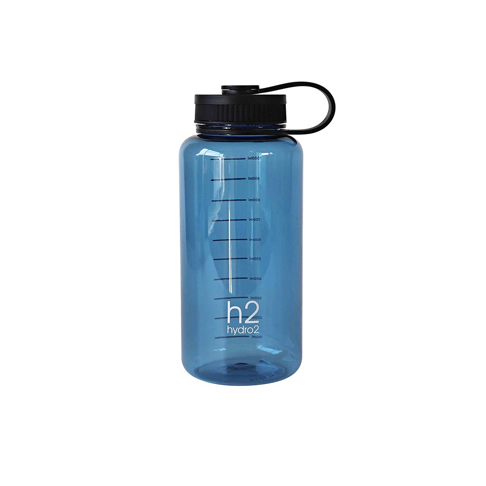 h2 hydro2 Fit Thirst Wide Mouth Water Bottle 1L Blue