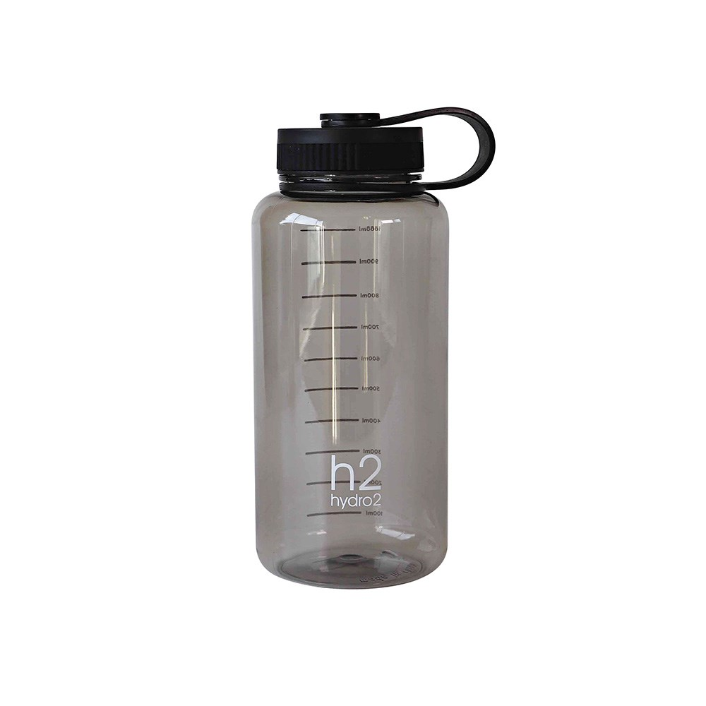 h2 hydro2 Fit Thirst Wide Mouth Water Bottle 1L Grey