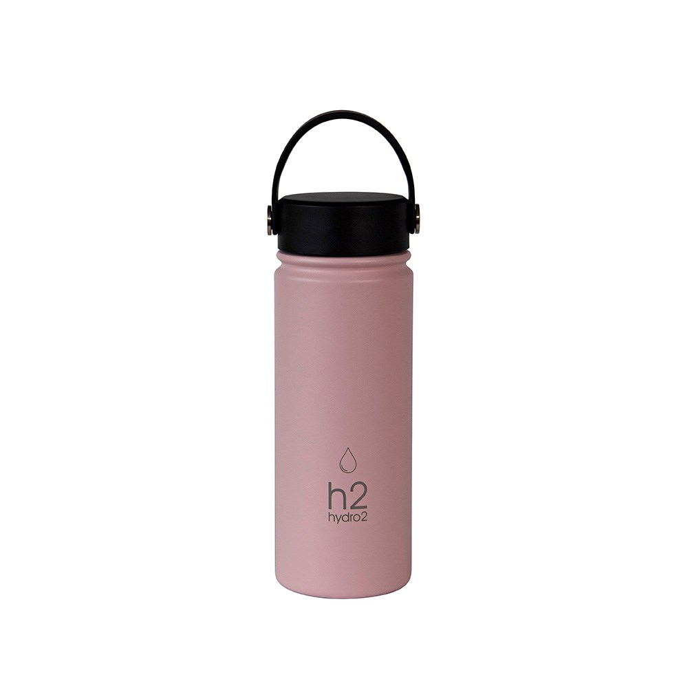 h2 hydro2 Flash Big Mouth Water Bottle 560ml Pink