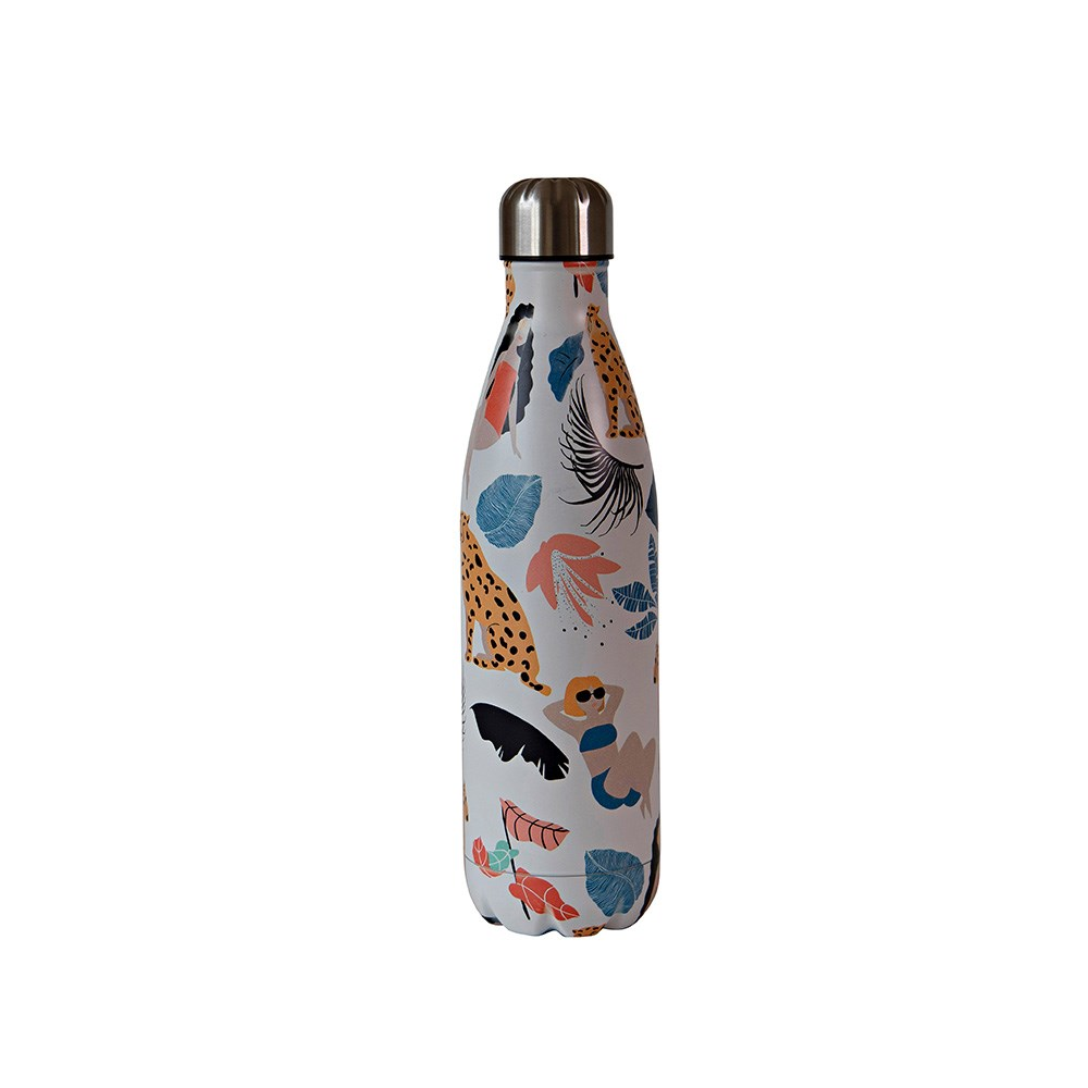 h2 hydro2 Quench Suma Double Wall Stainless Steel Water Bottle 750ml Safari