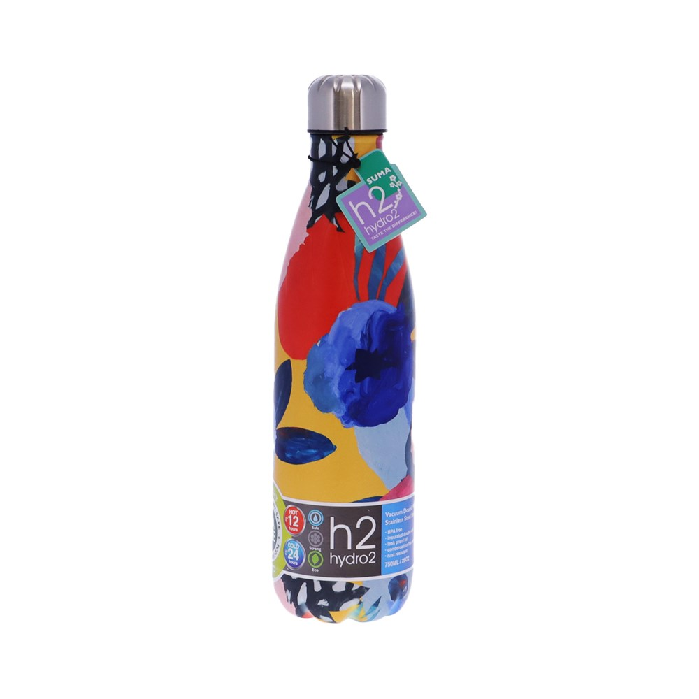 h2 hydro2 Quench Suma Double Wall Stainless Steel Water Bottle 750ml Abstract
