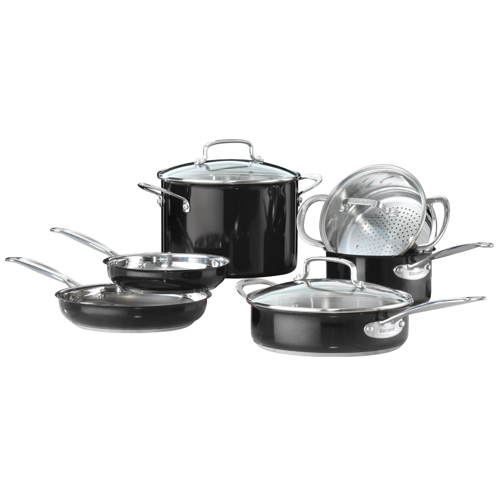 Baccarat Signature 6 Piece Stainless Steel Cookware Set Black