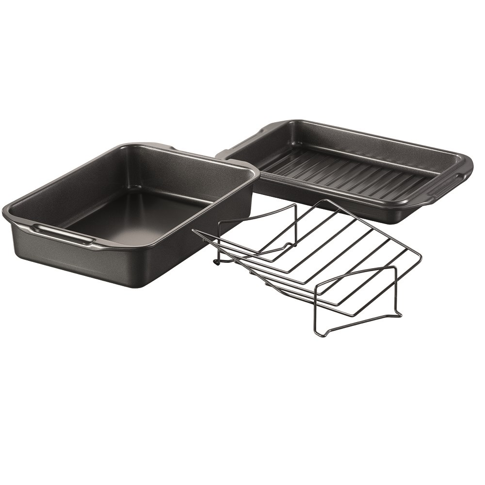 Baccarat Gourmet Carbon Steel Roast & Grill with Rack 43cm