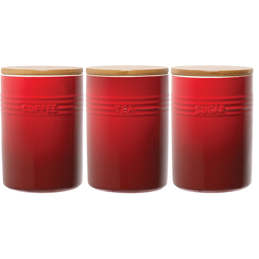 Baccarat Le Connoisseur Canister Set of 3 Red