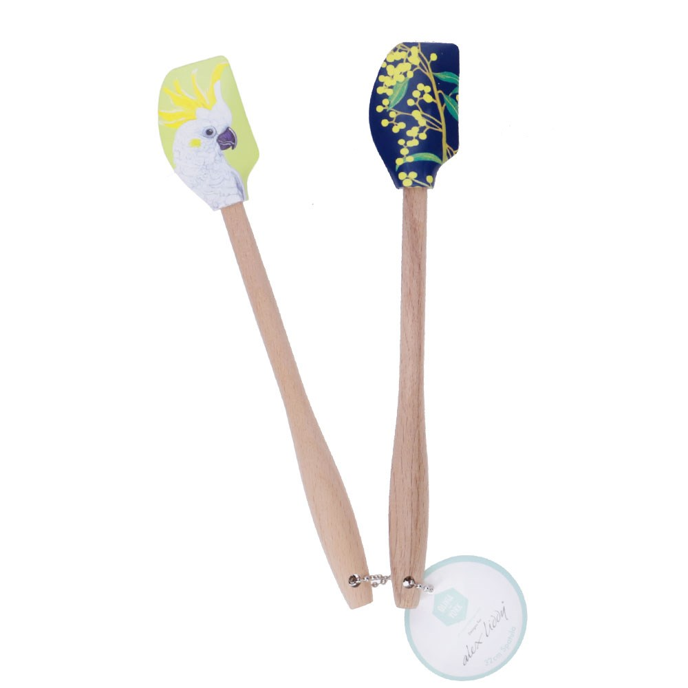 Alex Liddy Olivia York II Mini Silicone Spatula Set of 2 Cockatoo