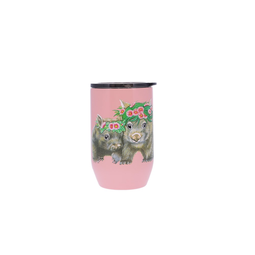 Alex Liddy Olivia York II Double Wall Coffee Cup 380ml Pink Floral