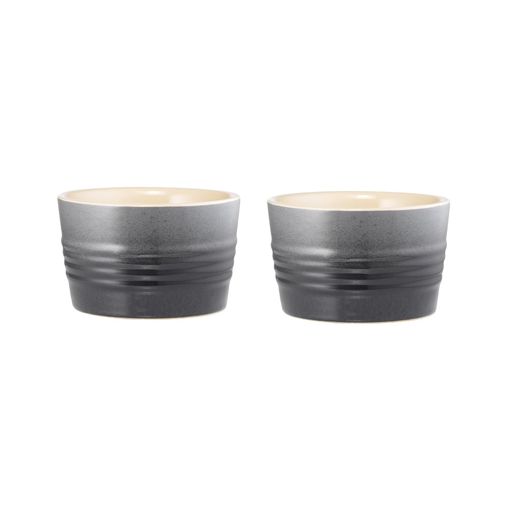 Baccarat Le Connoisseur Set of 2 Stoneware Ramekin 9cm Grey