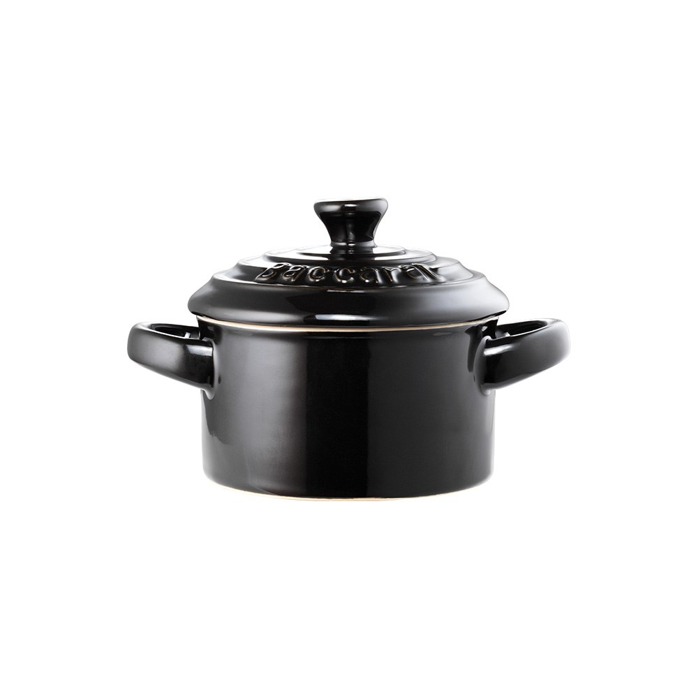 Baccarat Le Connoisseur Stoneware Mini Casserole with Lid 160ml Black