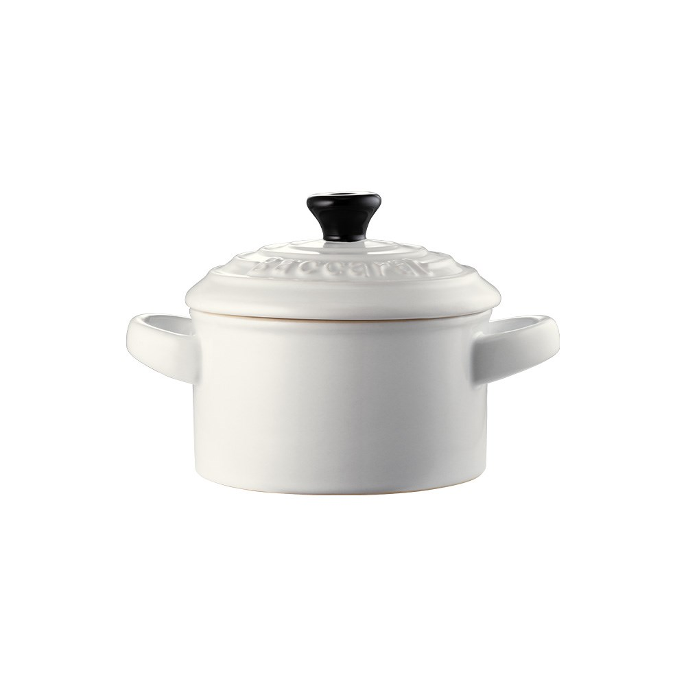 Baccarat Le Connoisseur Stoneware Mini Casserole with Lid 160ml White