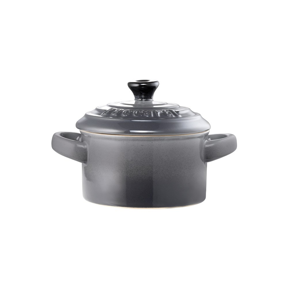 Baccarat Le Connoisseur Stoneware Mini Casserole with Lid 160ml Grey