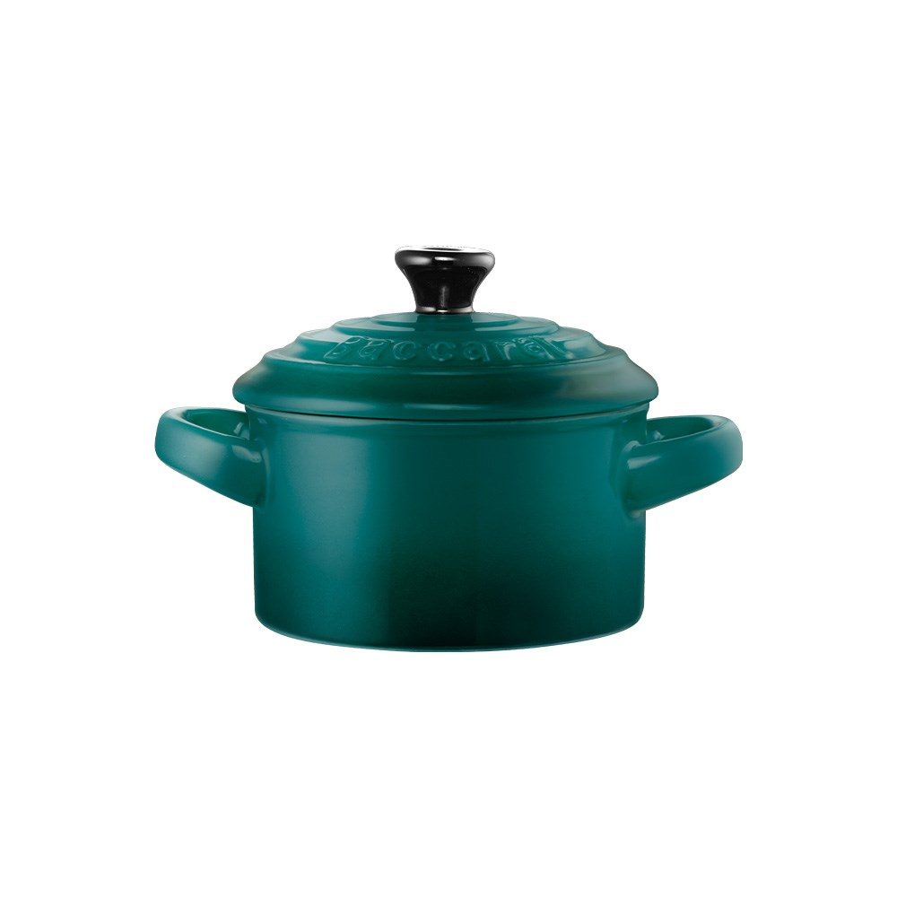 Baccarat Le Connoisseur Stoneware Mini Casserole with Lid 160ml Teal