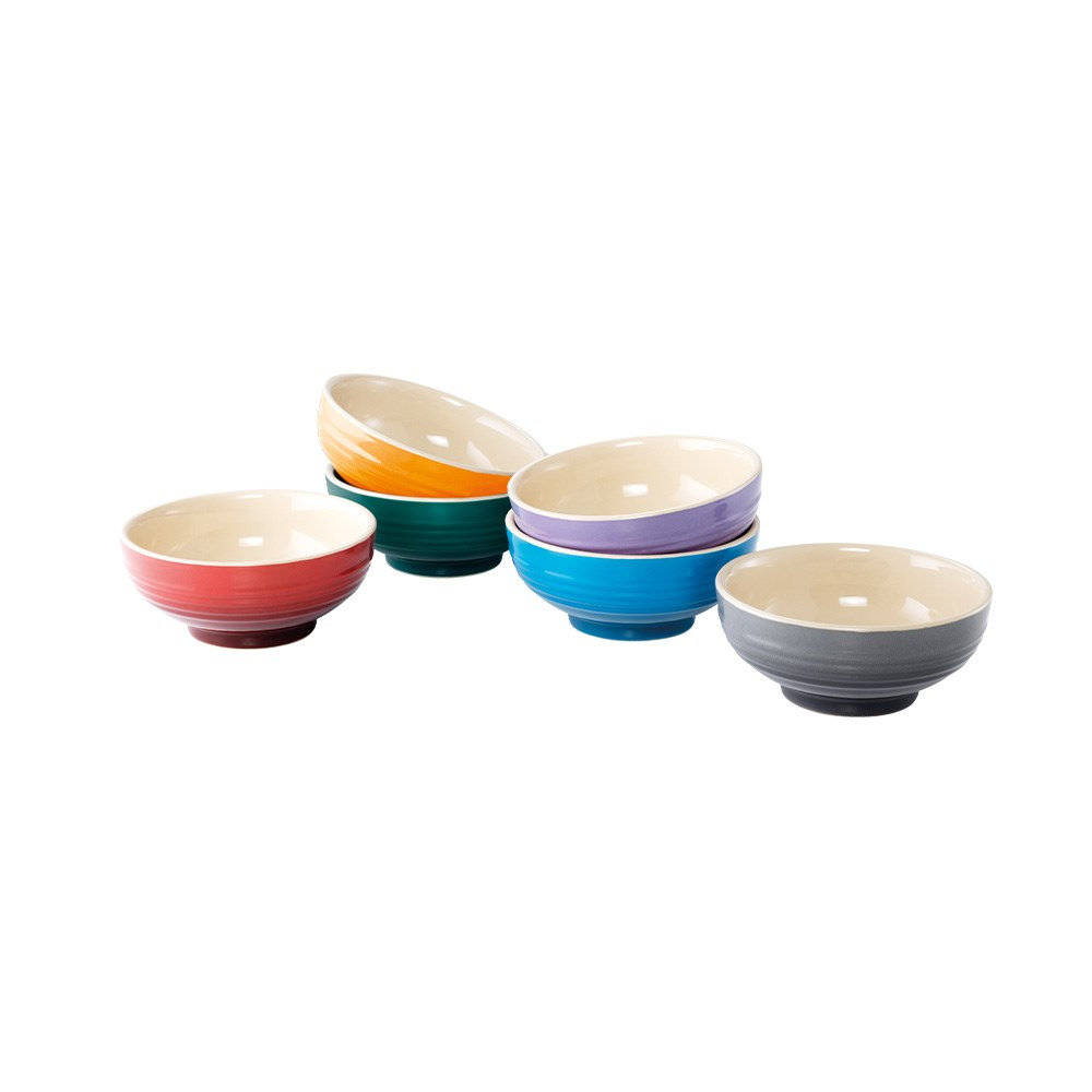 Baccarat Le Connoisseur Set of 6 Stoneware Mini Serving Bowls 10cm Multicolour