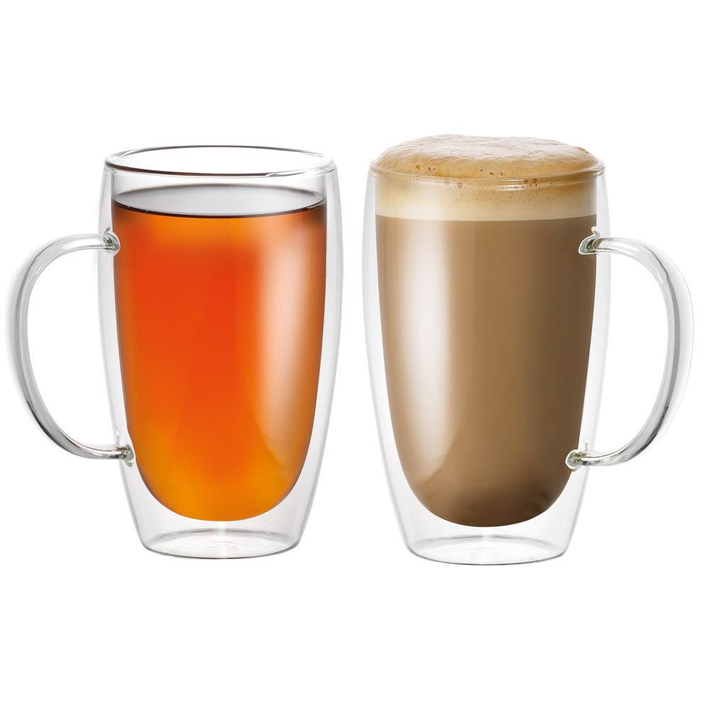 Baccarat Barista Caf Double Wall Thermal Glass Mug 2 Pack