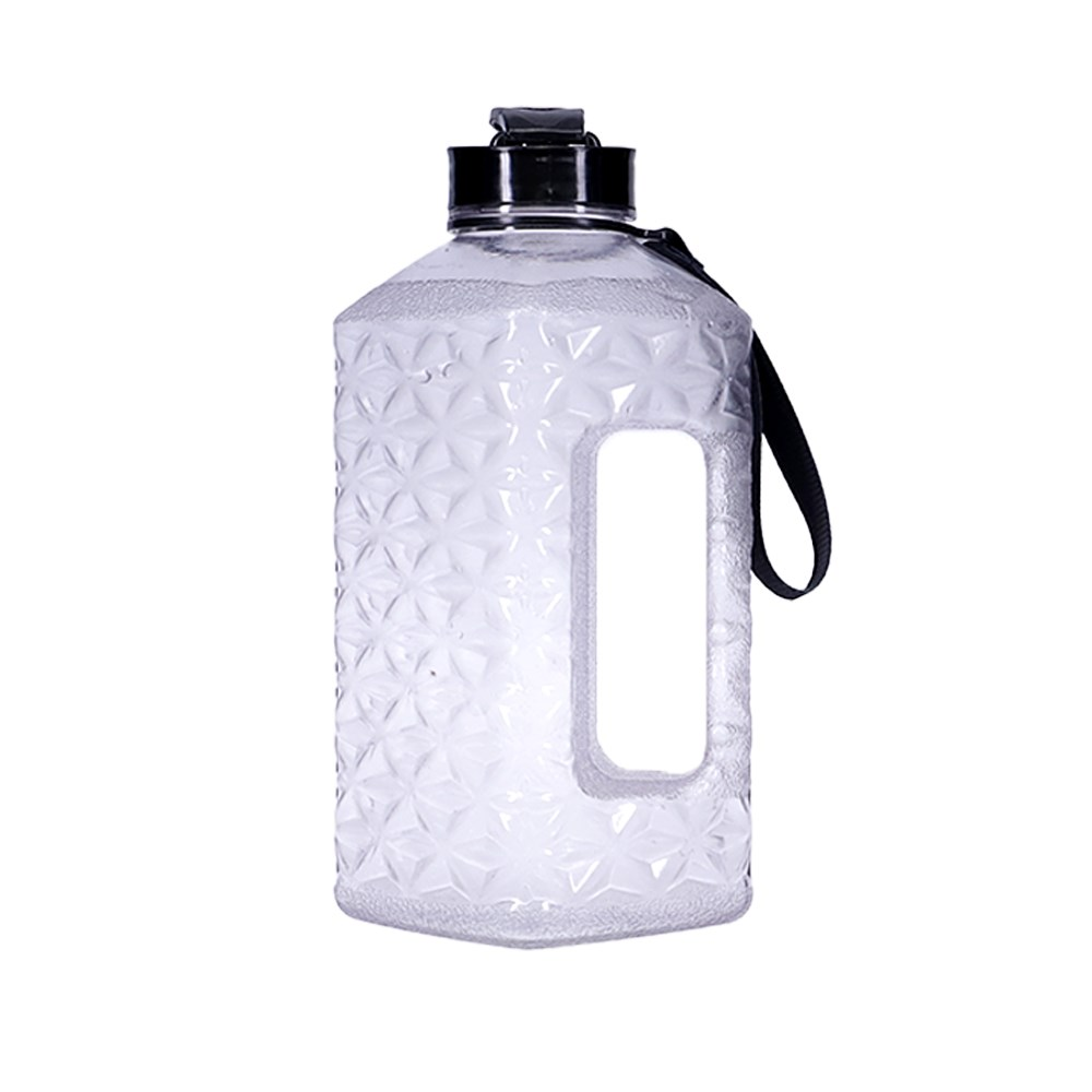h2 hydro2 ToGo Active Keg Water Bottle 1.4L Clear