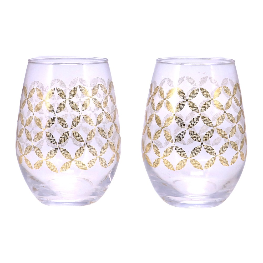 Marie Claire Jardin Champetre Set of 2 Stemless Glasses 500ml