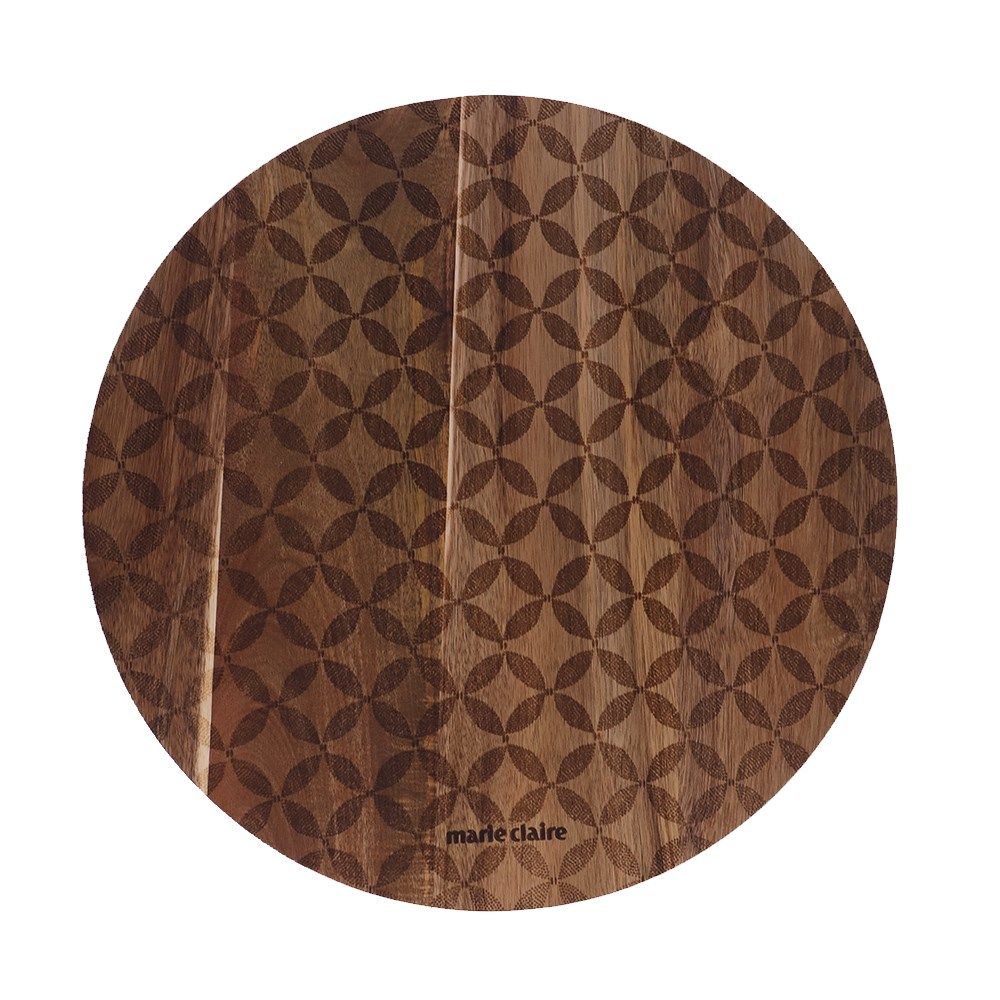 Marie Claire Jardin Champetre Acacia Serving Board 40cm Clover