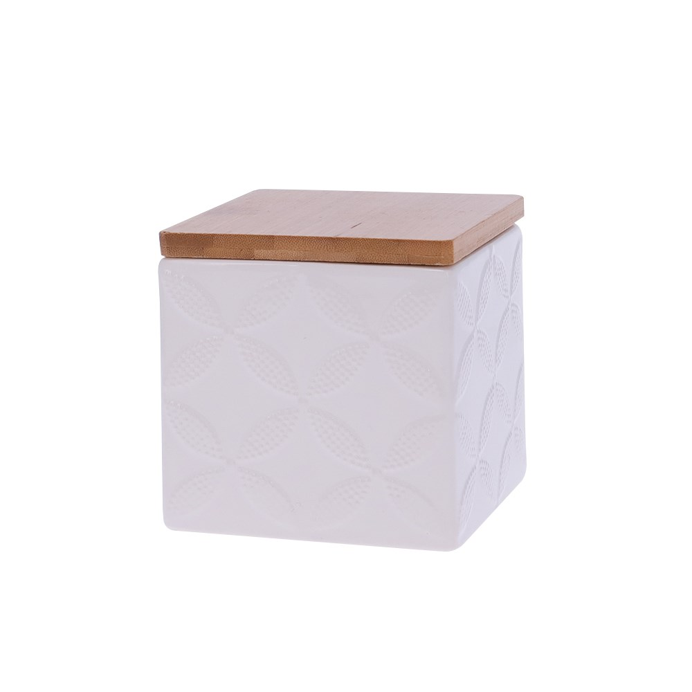 Marie Claire Jardin Champetre Square Canister 10cm Clover