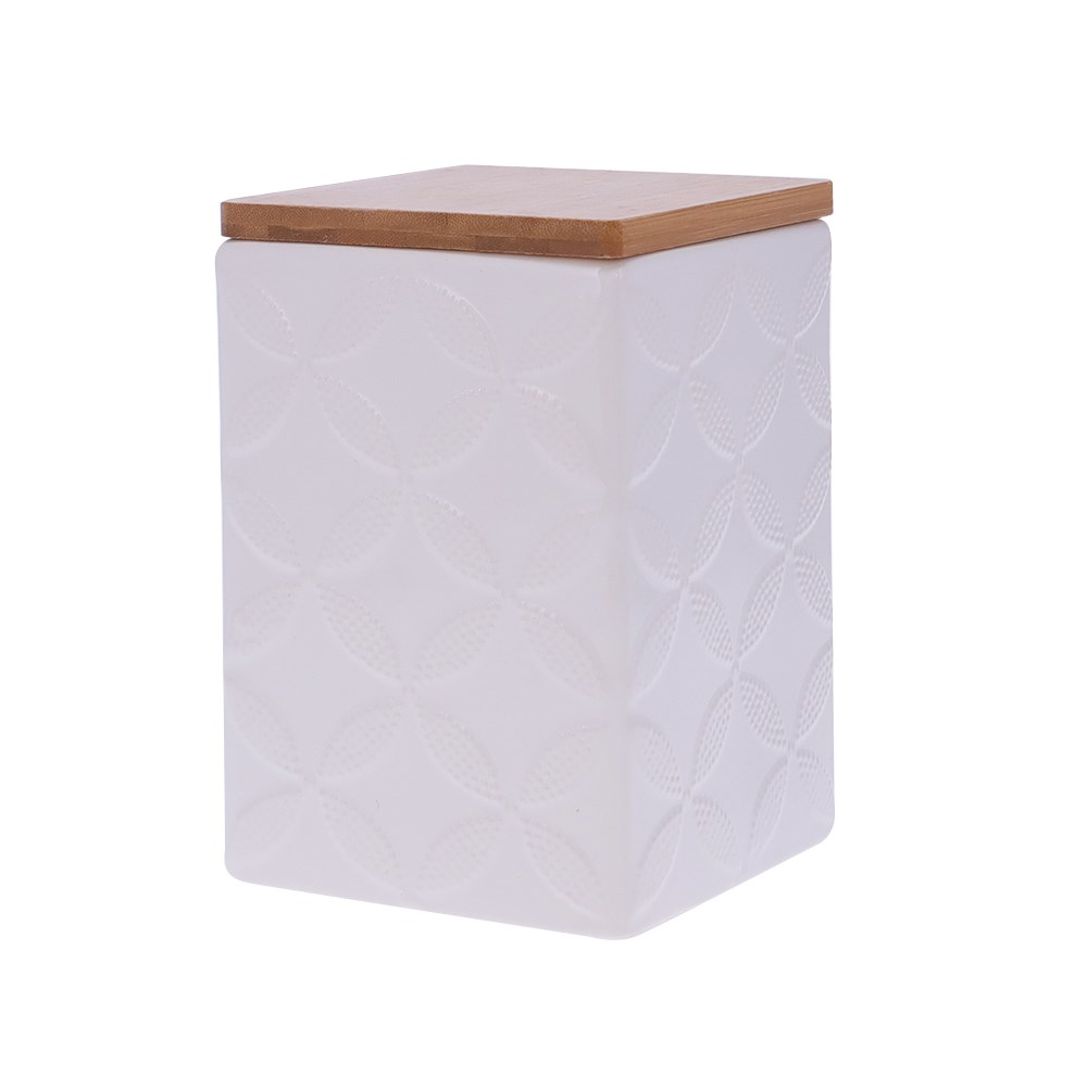 Marie Claire Jardin Champetre Square Canister 15cm Clover