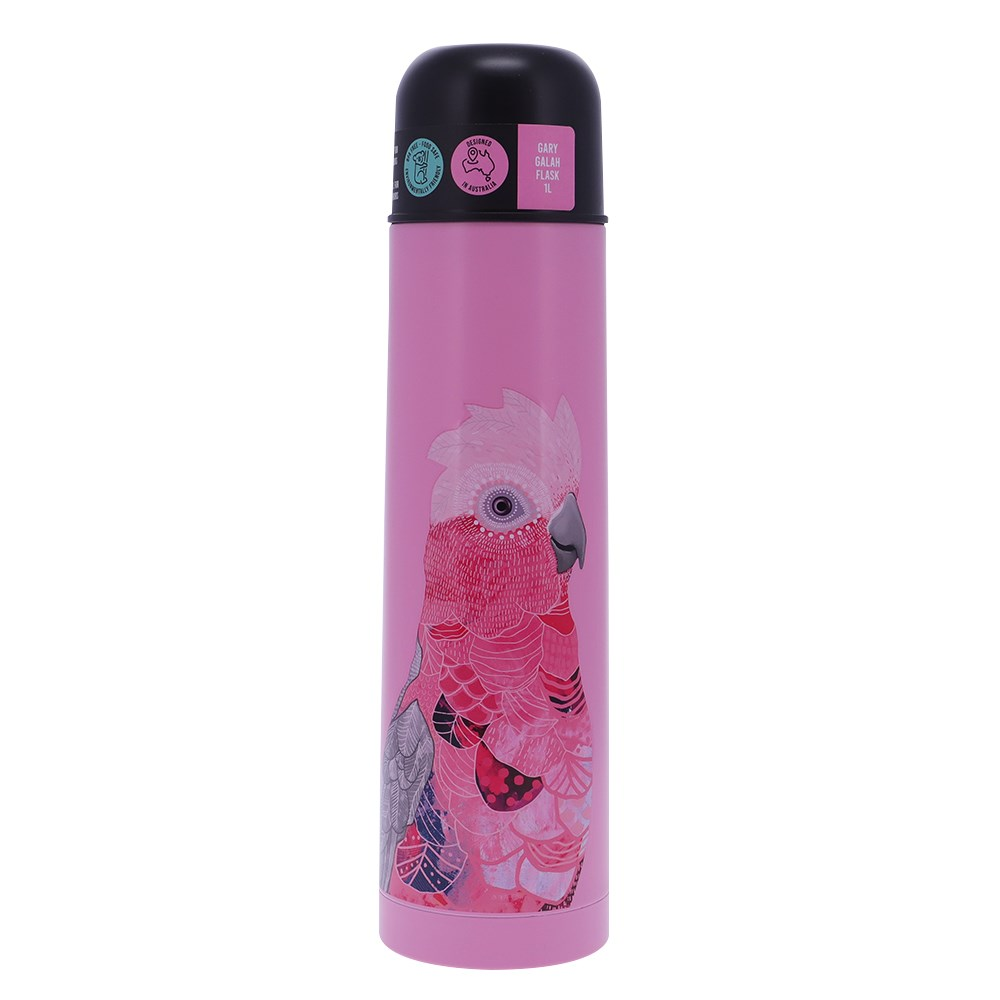 Alex Liddy Frankie B Stainless Steel Insulated Flask 1L Galah