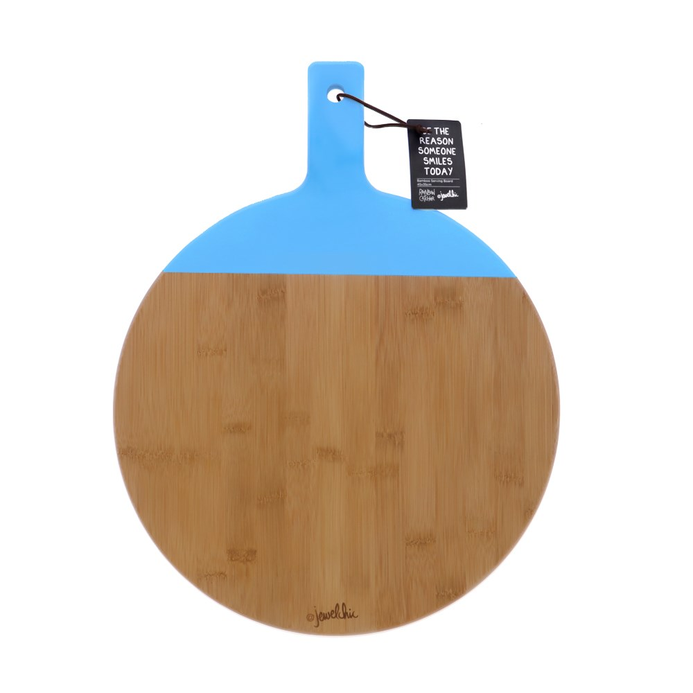 Jewelchic III Bamboo Paddle Serving Board Assorted Colour Dispatch