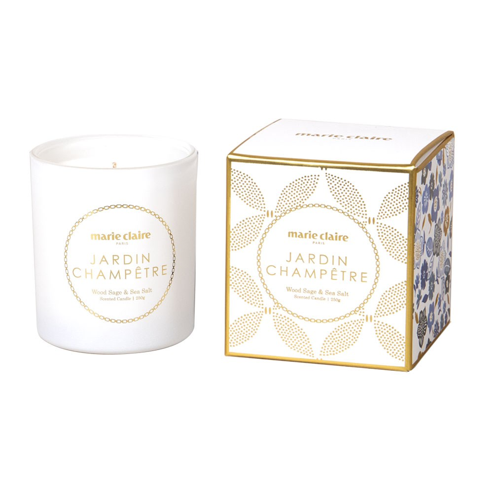 Marie Claire Jardin Champetre Fleur Scented Candle White