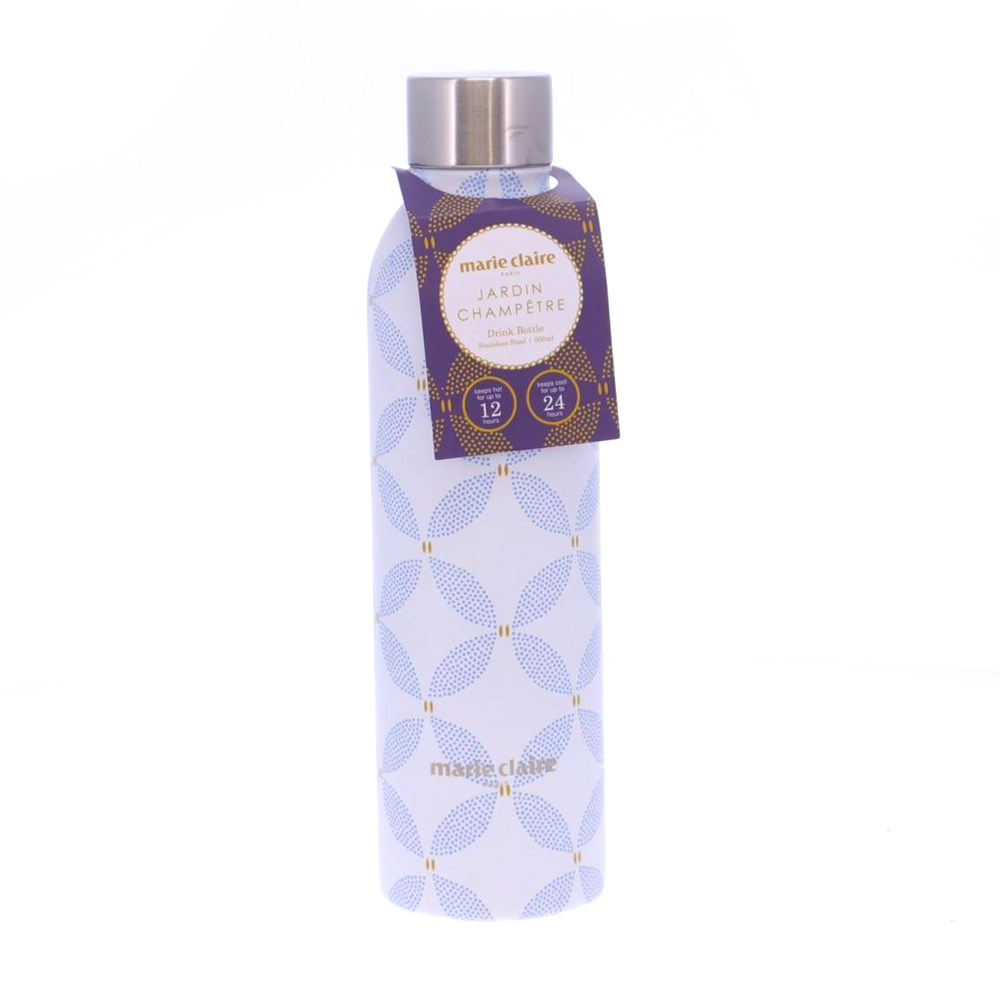 Marie Claire Jardin Champetre Stainless Steel Bottle 500ml Clover