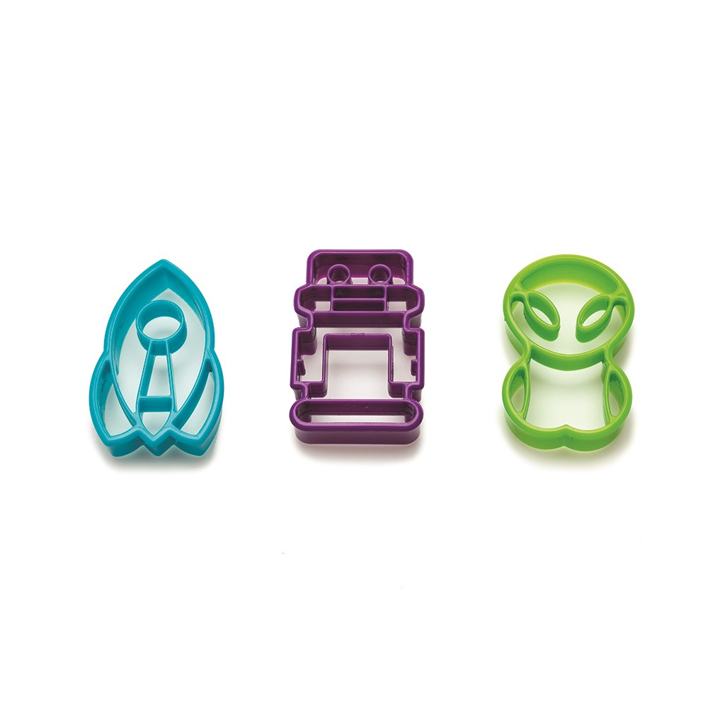 Joie Space Age Set of 3 Cookie Cutters
