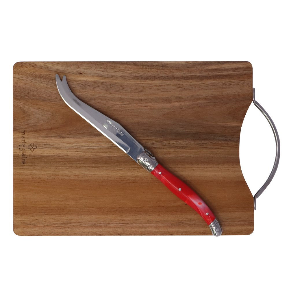 Marie Claire Laguiole Domain Serving Board with Knife 18 x 25cm