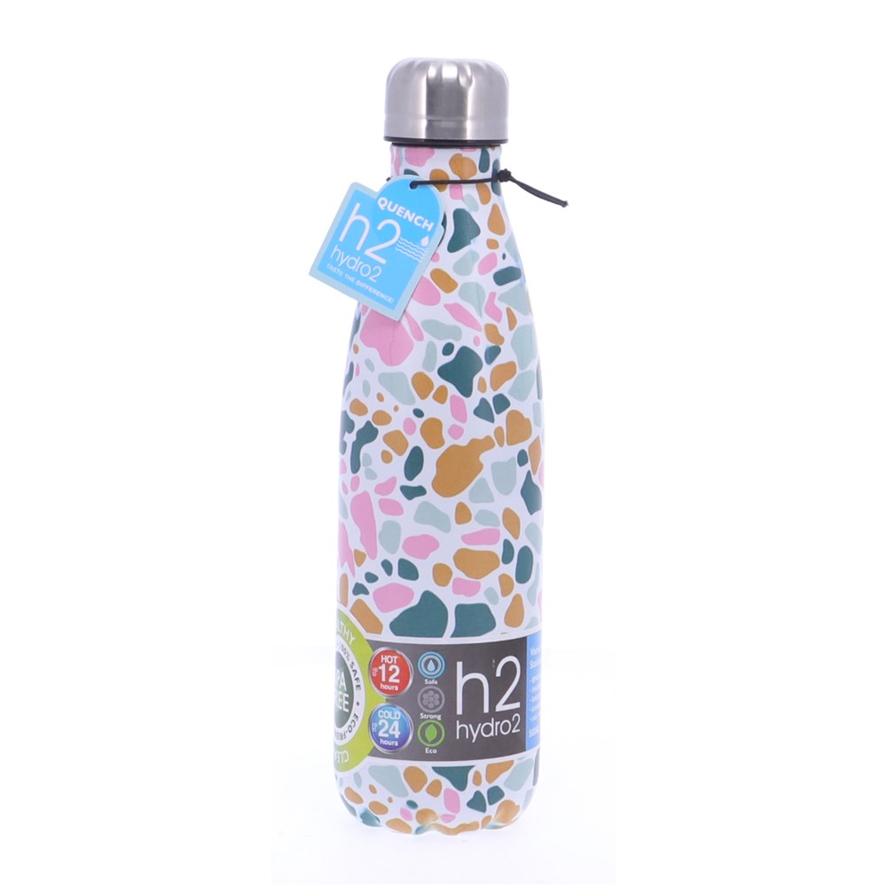 h2 hydro2 Quench Double Wall Stainless Steel Water Bottle 500ml Terazz