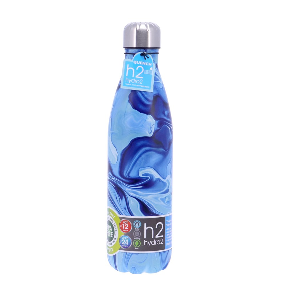 h2 hydro2 Quench Double Wall Stainless Steel Water Bottle 750ml Water