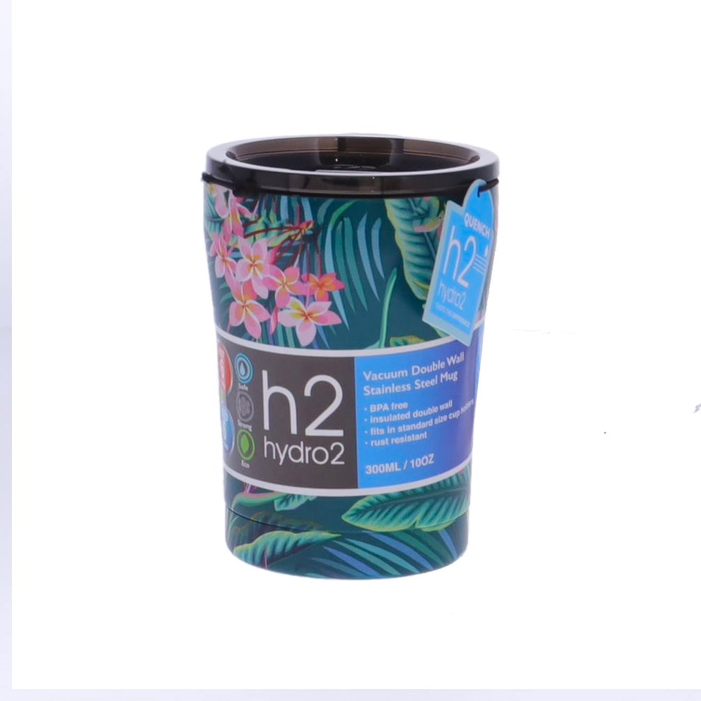 h2 hydro2 Quench Double Wall Stainless Steel Travel Mug 300ml Jungle