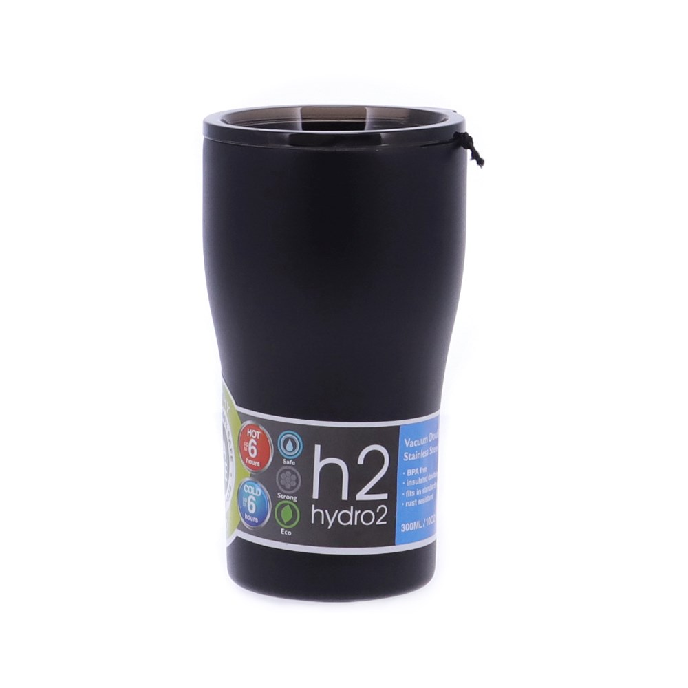 h2 hydro2 Quench Double Wall Stainless Steel Travel Mug 500ml Black