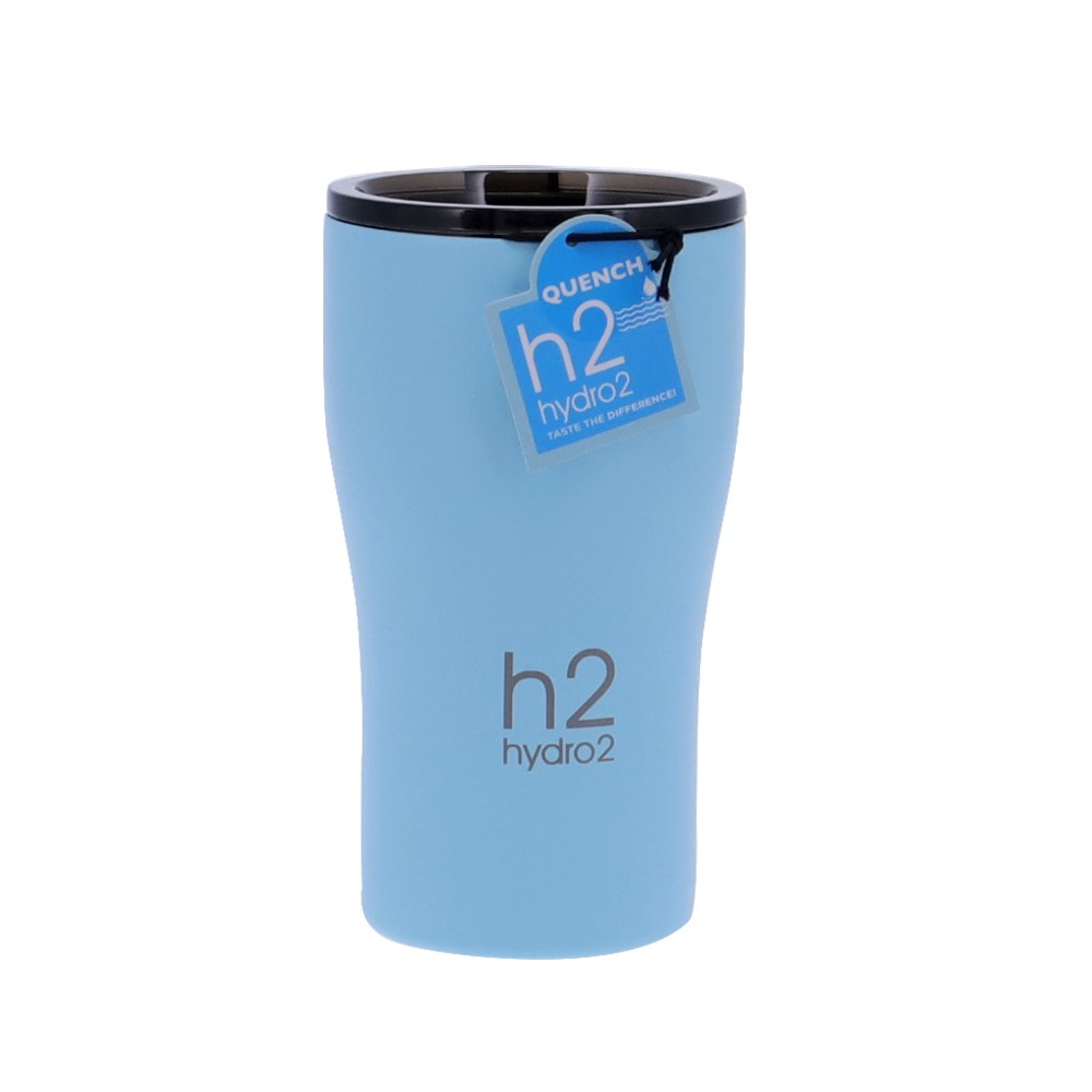 h2 hydro2 Quench Double Wall Stainless Steel Travel Mug 500ml Blue