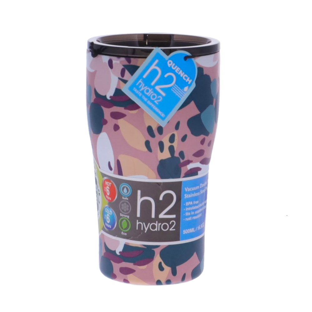 h2 hydro2 Quench Double Wall Stainless Steel Travel Mug 500ml Paint