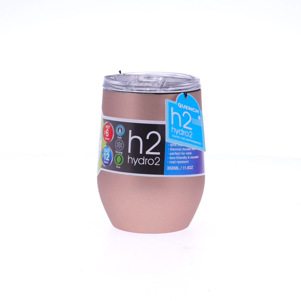 h2 hydro2 Quench Double Wall Stainless Steel Tumbler 350ml Champagne