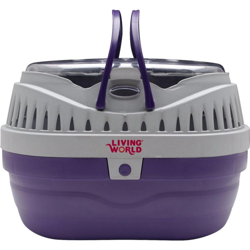 Living World Small Animal Carrier Purple & Grey