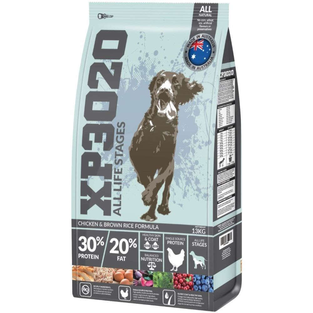 XP3020 All Life Stage Extra Premium Chicken & Brown Rice Dry Dog Food 13kg