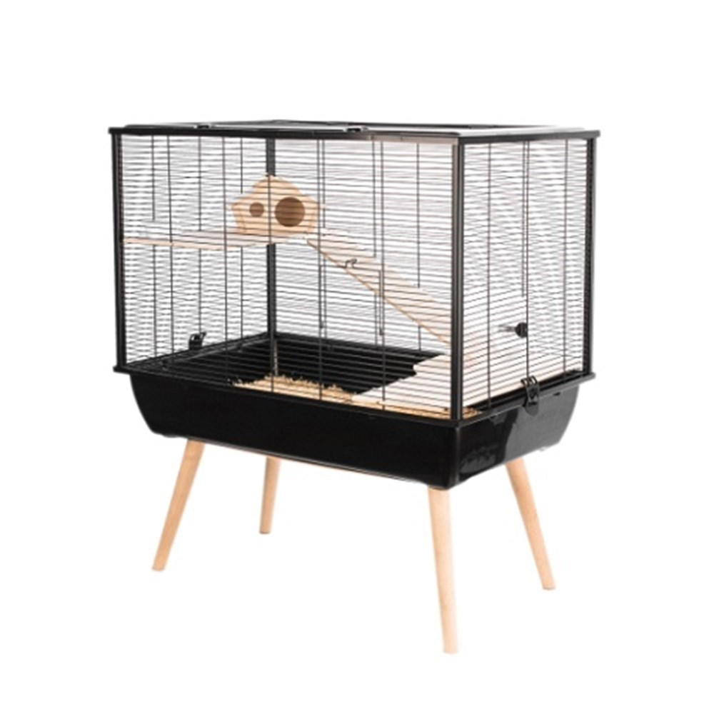 Zolux NEO Silta Small Animal Cage Black