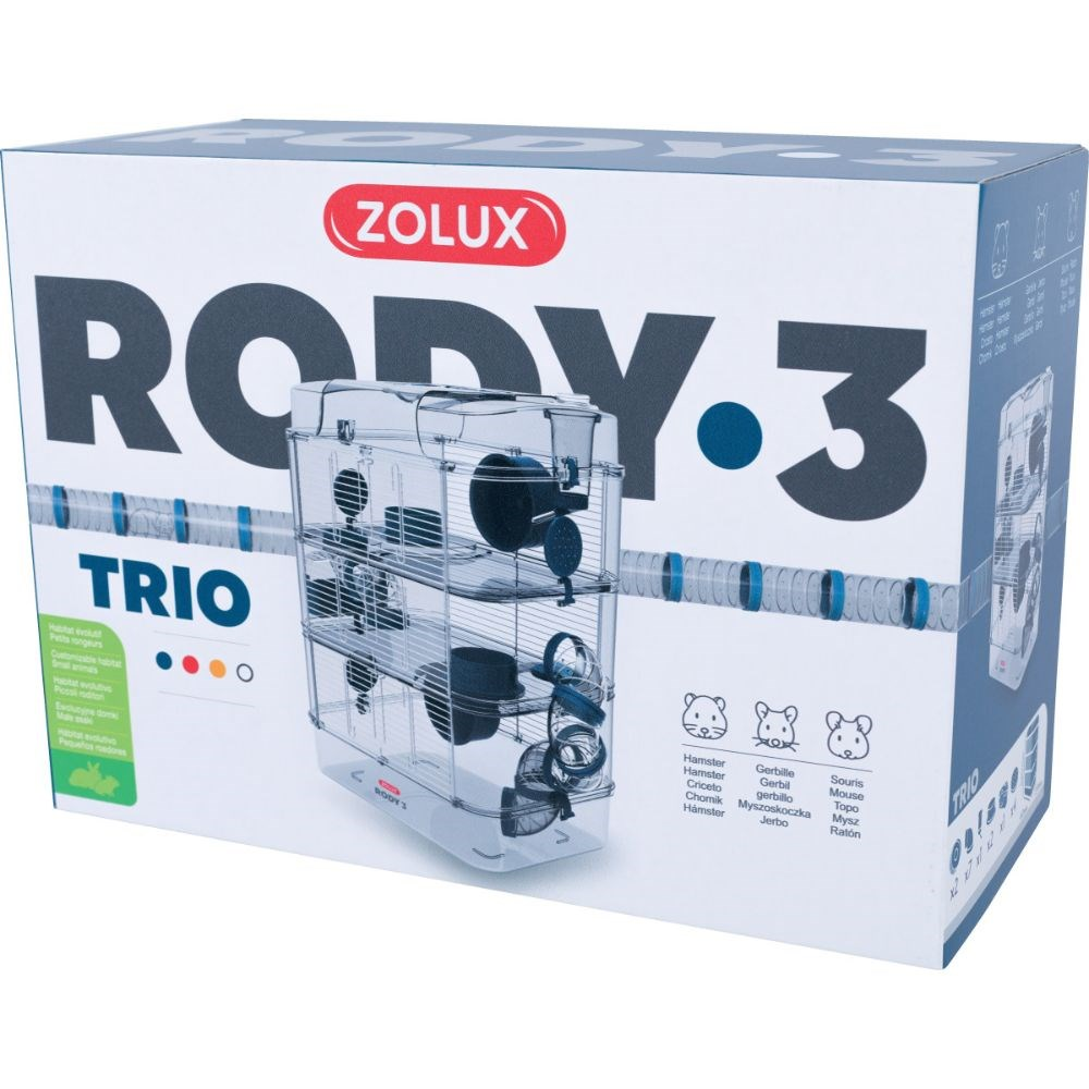 Zolux Rody 3 Small Animal Cage Trio Blue