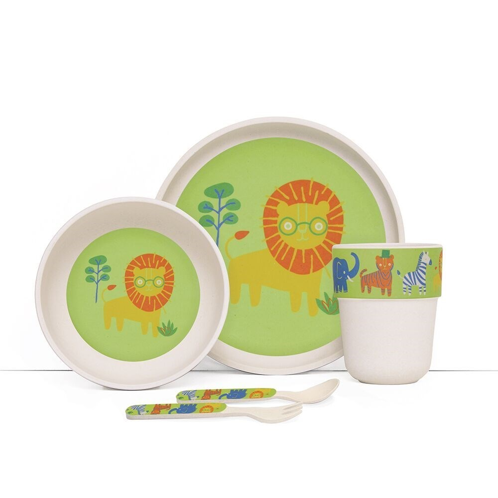 Penny Scallan Wild Thing Bamboo Kids Meal Set with Cutlery