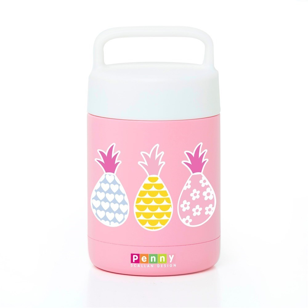 Penny Scallan Pineapple Bunting Double Wall Vacuum Insulated Thermal Flask 350ml